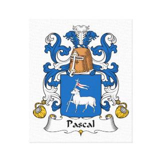 Escudo de la familia de Pascal Impresión En Lona Estirada
