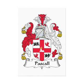 Escudo de la familia de Pascall Impresion En Lona