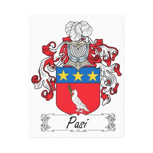 Escudo de la familia de Pasi Lienzo Envuelto Para Galerías