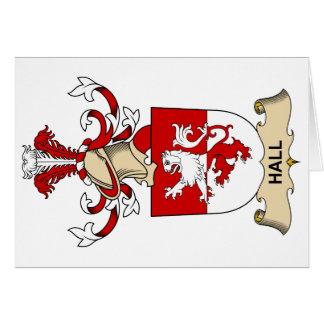 Escudo de la familia de Pasillo Tarjeta De Felicitación