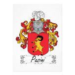 Escudo de la familia de Pasini Invitación