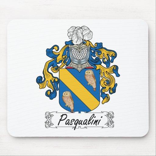 Escudo de la familia de Pasqualini Alfombrillas De Raton