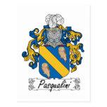 Escudo de la familia de Pasqualini Postal