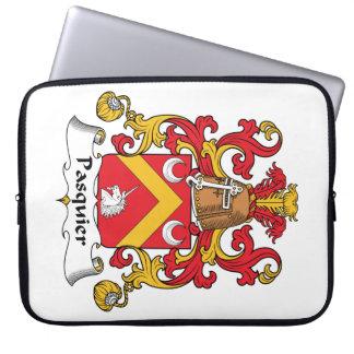 Escudo de la familia de Pasquier Fundas Portátiles