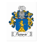 Escudo de la familia de Passarini Postal