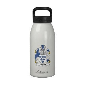 Escudo de la familia de Paston Botella De Agua