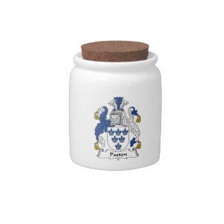 Escudo de la familia de Paston Plato Para Caramelo