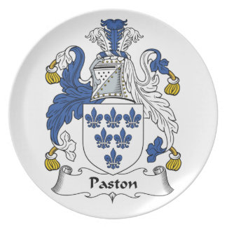 Escudo de la familia de Paston Platos De Comidas