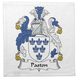Escudo de la familia de Paston Servilleta Imprimida