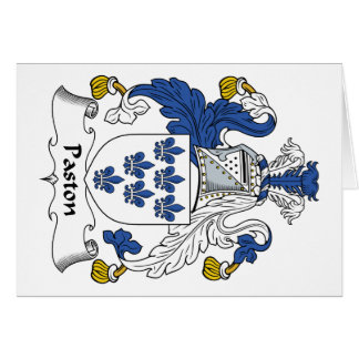 Escudo de la familia de Paston Tarjeta De Felicitación
