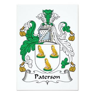 Escudo de la familia de Paterson Invitaciones Personales