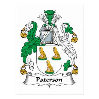 Escudo de la familia de Paterson Tarjetas Postales