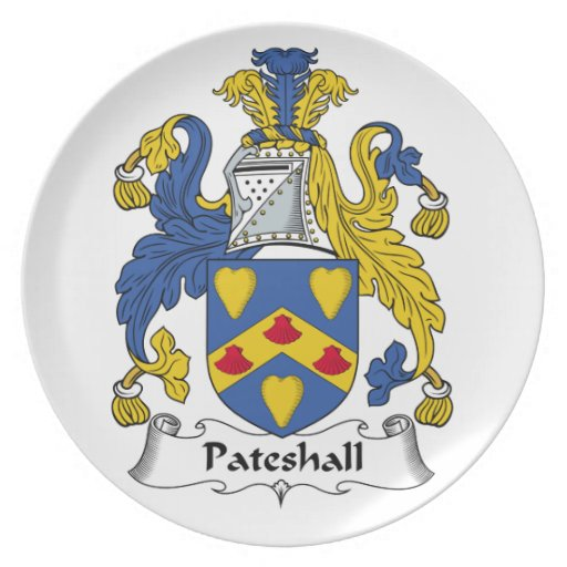 Escudo de la familia de Pateshall Plato Para Fiesta