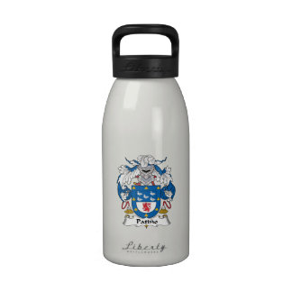 Escudo de la familia de Patino Botella De Agua
