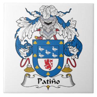 Escudo de la familia de Patino Teja Ceramica