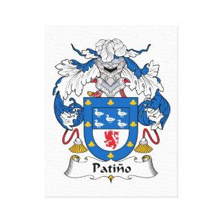 Escudo de la familia de Patino Impresión En Lona Estirada