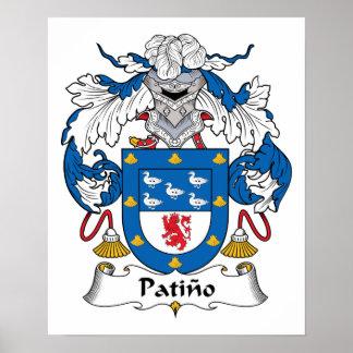 Escudo de la familia de Patino Poster