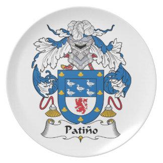 Escudo de la familia de Patino Plato De Comida