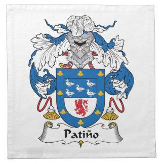 Escudo de la familia de Patino Servilletas De Papel