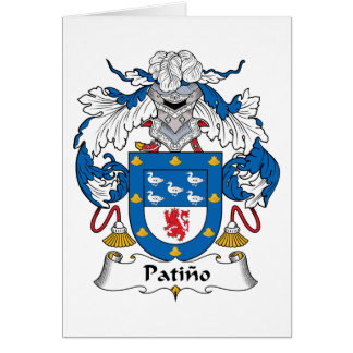 Escudo de la familia de Patino Tarjeton