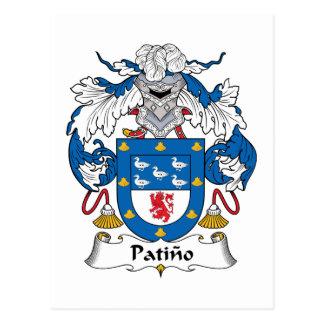Escudo de la familia de Patino Tarjetas Postales