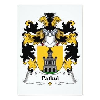 """Escudo de la familia de Patkul Invitación 5"""" X 7"""""""