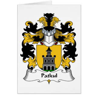 Escudo de la familia de Patkul Tarjeta De Felicitación