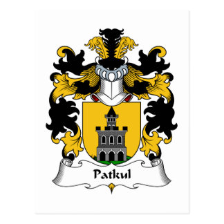 Escudo de la familia de Patkul Tarjetas Postales