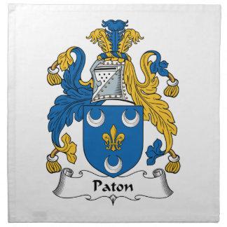 Escudo de la familia de Paton Servilleta De Papel
