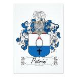 Escudo de la familia de Patrini Invitación 12,7 X 17,8 Cm