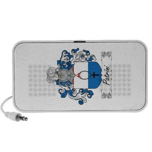 Escudo de la familia de Patrini Laptop Altavoz