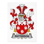 Escudo de la familia de Patterson Invitacion Personalizada