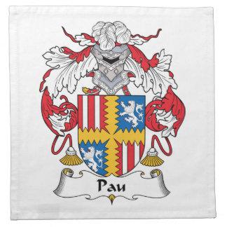 Escudo de la familia de Pau Servilletas De Papel