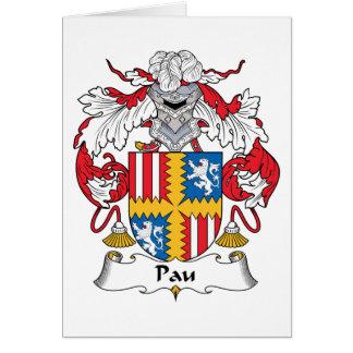 Escudo de la familia de Pau Tarjeta De Felicitación