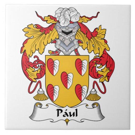 Escudo de la familia de Paul Azulejo