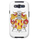 Escudo de la familia de Paul Samsung Galaxy S3 Protectores