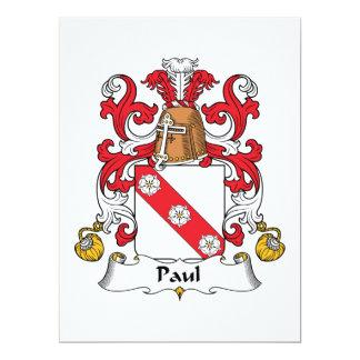 """Escudo de la familia de Paul Invitación 6.5"""" X 8.75"""""""