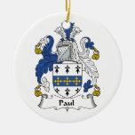 Escudo de la familia de Paul Ornamentos De Navidad