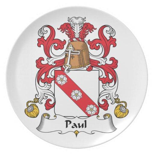 Escudo de la familia de Paul Platos De Comidas
