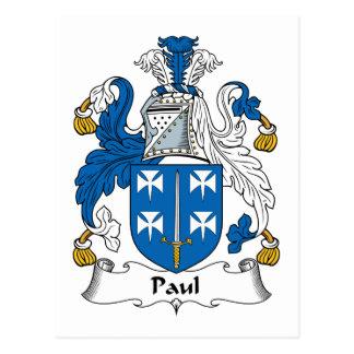 Escudo de la familia de Paul Postales
