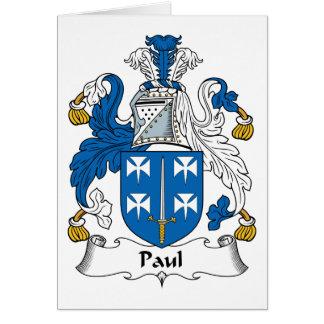 Escudo de la familia de Paul Tarjeta De Felicitación