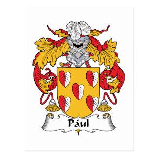 Escudo de la familia de Paul Tarjetas Postales