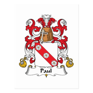 Escudo de la familia de Paul Tarjeta Postal