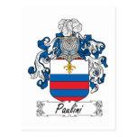 Escudo de la familia de Paulini Postales