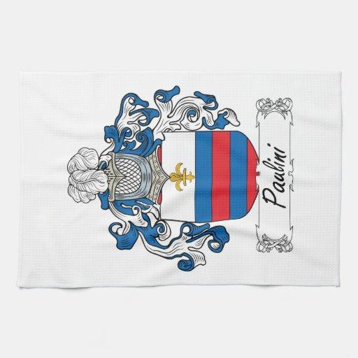 Escudo de la familia de Paulini Toallas De Mano