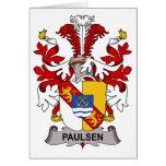 Escudo de la familia de Paulsen Felicitación