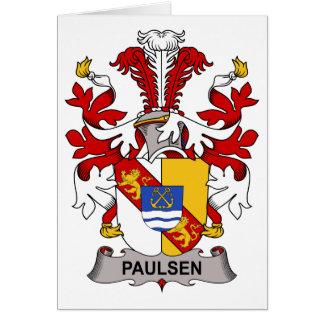 Escudo de la familia de Paulsen Tarjeta De Felicitación