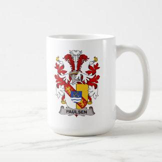Escudo de la familia de Paulsen Tazas De Café