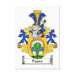 Escudo de la familia de Pauw Impresión En Lona