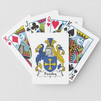 Escudo de la familia de Paveley Baraja De Cartas